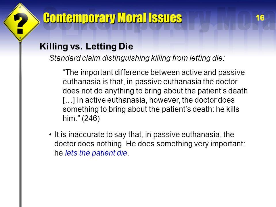 16 Killing vs.