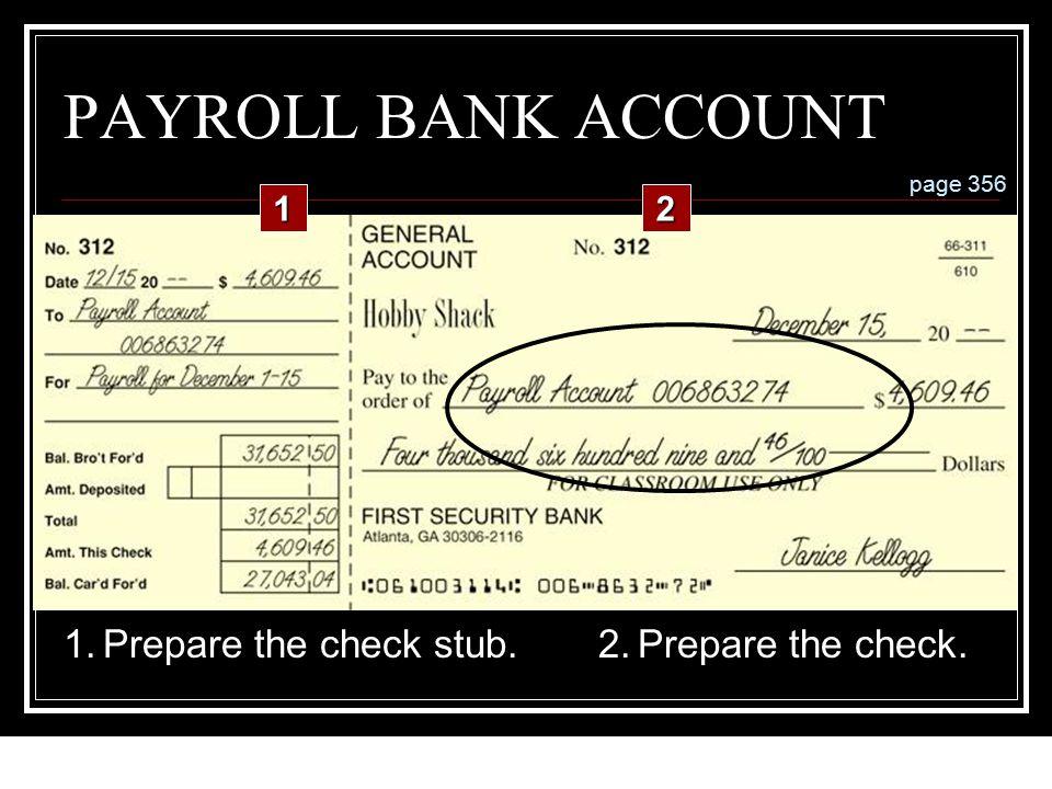 12-119 LESSON 12-4 Preparing Payroll Checks 1.