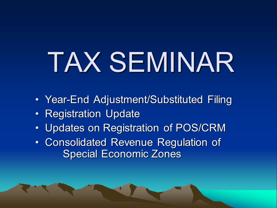 RR 2-2005: Consolidated Implementing Rules on ECOZONEs Service Establishments: –All income derived by qualified ECOZONE Service Enterprises, whether registered or not, for services rendered within the ECOZONES shall be subject to all internal revenue taxes under the NIRC –However, ECOZONE locators which export their services or are rendering their services abroad shall enjoy the 5% preferential tax rate.