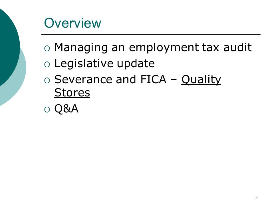 44 Key Issues – Executive Compensation  Section 3121(v) – FICA timing Generally, deferred compensation is subject to FICA when no longer subject to substantial risk of forfeiture, even though not otherwise taxable until later Exception for severance, not applicable to restricted stock Often an issue for traditional deferred compensation, but also RSUs, SERPs, etc.
