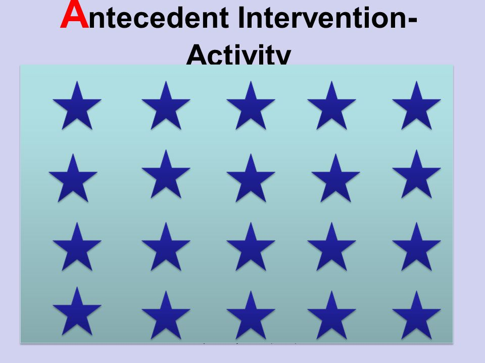 A ntecedent Intervention- Activity Activity Prepared by KATC (2010)