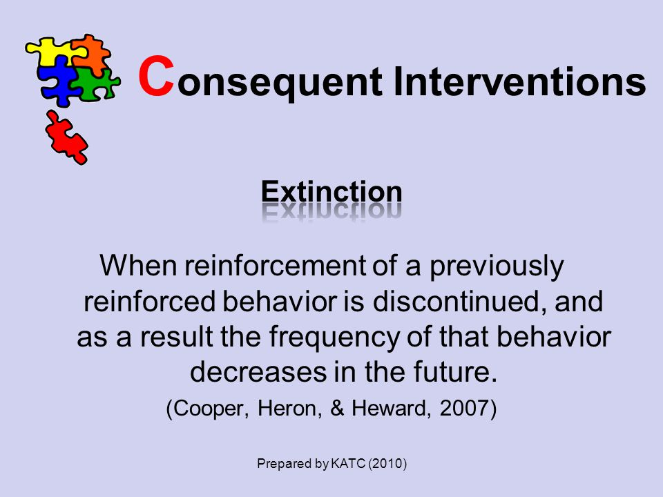 C onsequent Interventions Prepared by KATC (2010)