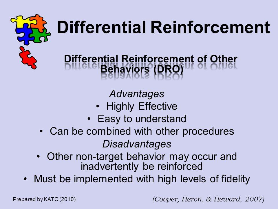 Differential Reinforcement Prepared by KATC (2010) (Cooper, Heron, & Heward, 2007)