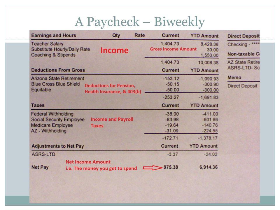 A Paycheck – Biweekly