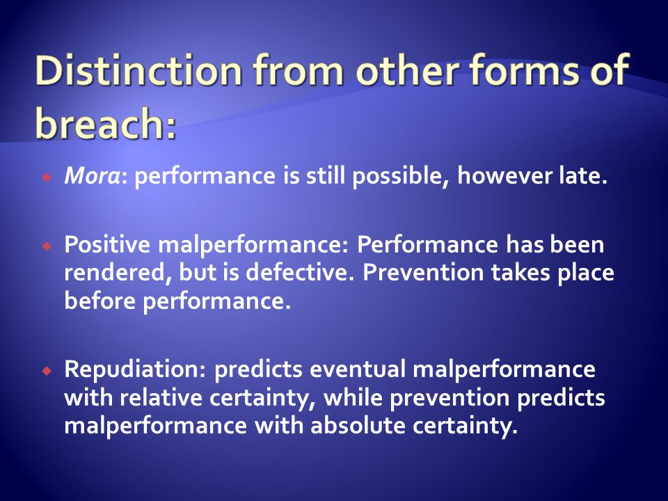  No order for specific performance can be granted.