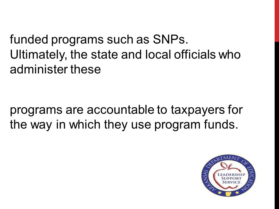 funded programs such as SNPs.