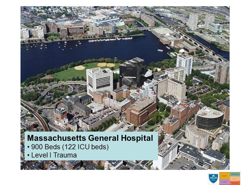 Massachusetts General Hospital 900 Beds (122 ICU beds) Level I Trauma