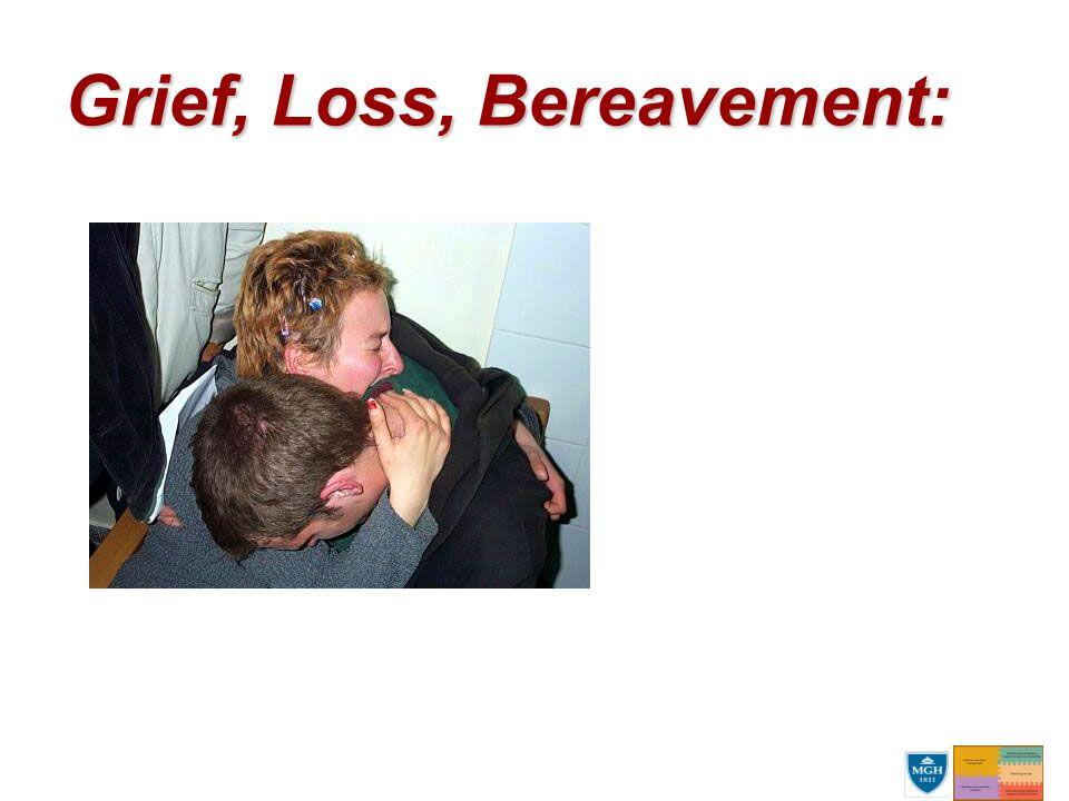 Grief, Loss, Bereavement: