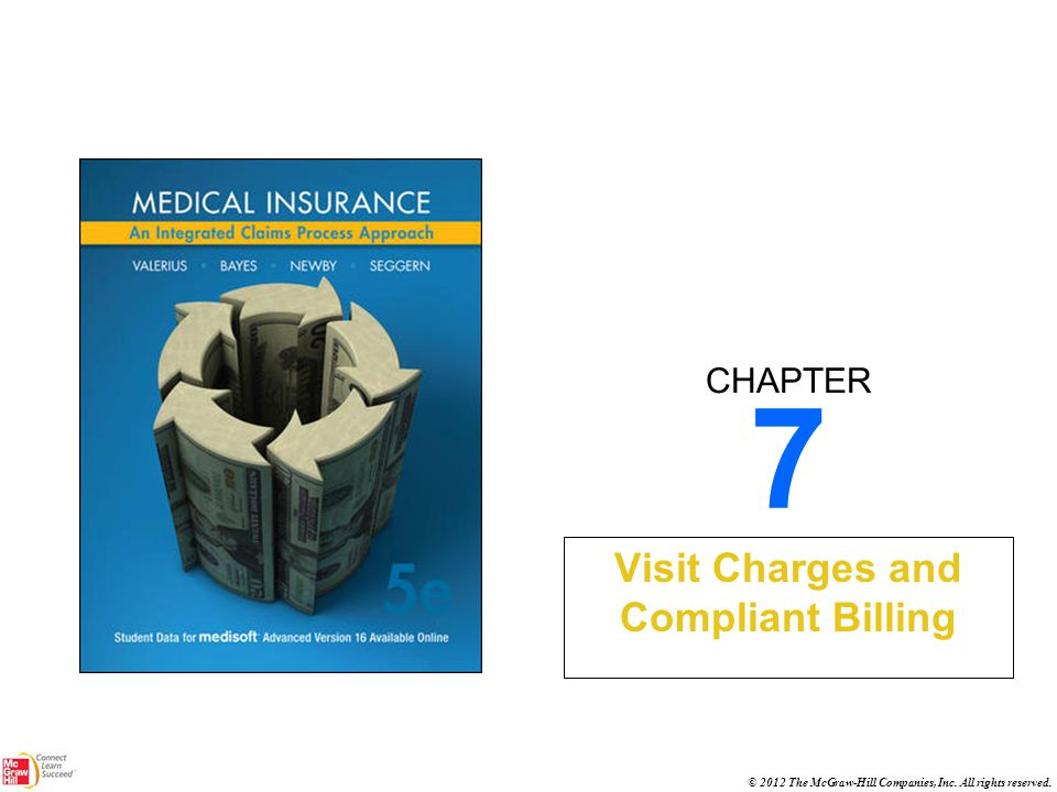 CHAPTER © 2012 The McGraw-Hill Companies, Inc. All rights reserved. 7 Visit Charges and Compliant Billing