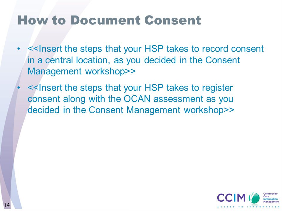 14 How to Document Consent >