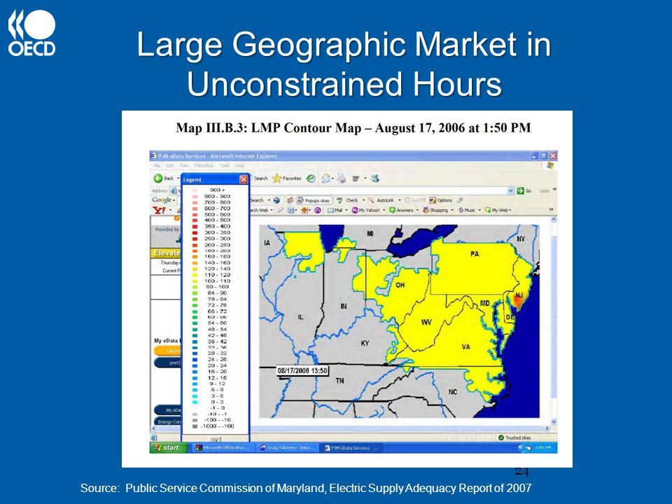 24 Large Geographic Market in Unconstrained Hours Source: Public Service Commission of Maryland, Electric Supply Adequacy Report of 2007