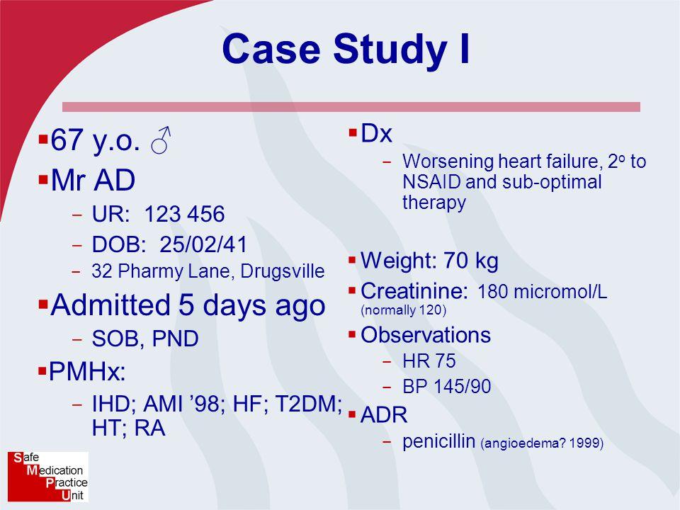 Case Study I  67 y.o.