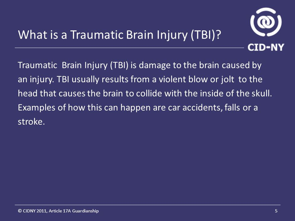What is a Traumatic Brain Injury (TBI).