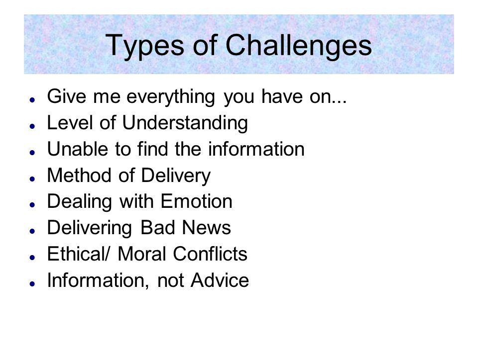 Give me everything you have on...Information Needs Assessment What do they already know.