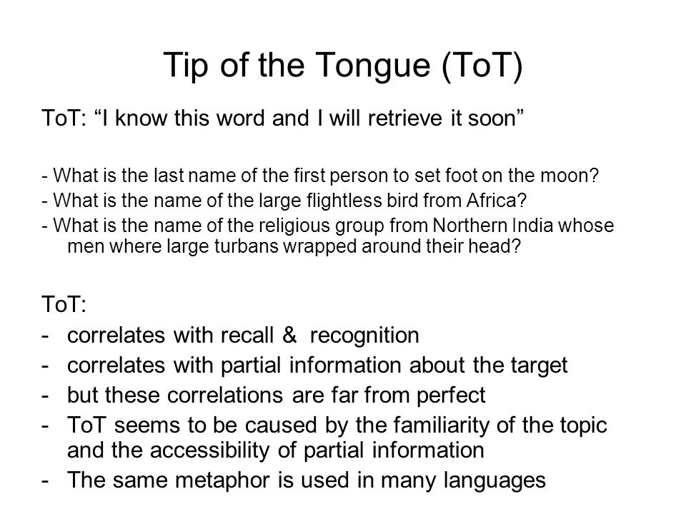 Tip of the Tongue (ToT) ToT: I know this word and I will retrieve it soon - What is the last name of the first person to set foot on the moon.