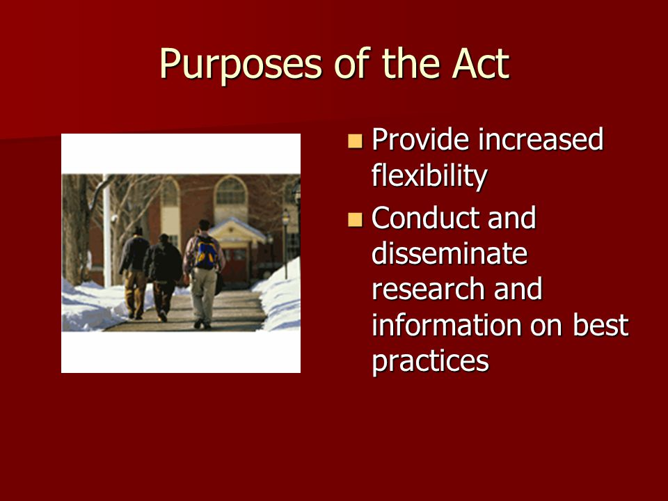 Increased Accountability –Separate secondary and postsecondary measures –Performance levels at state and local levels –Sanctions