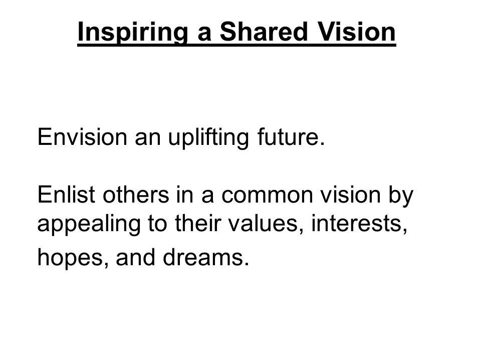 Envision an uplifting future.