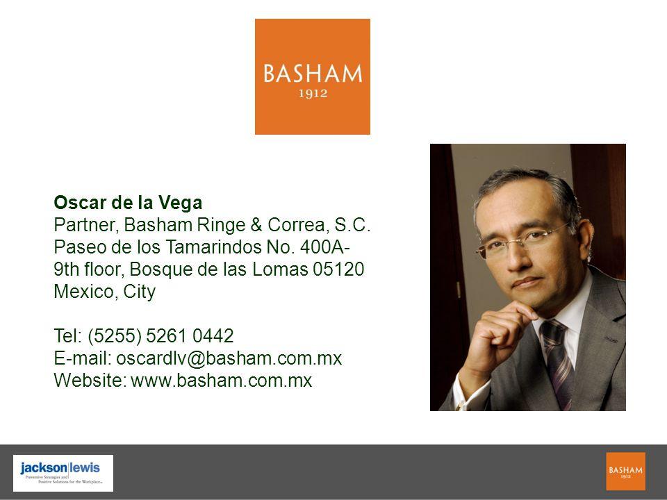 Oscar de la Vega Partner, Basham Ringe & Correa, S.C.