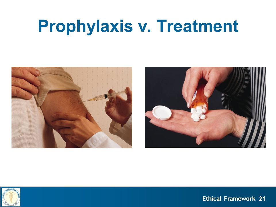 21Ethical Framework Prophylaxis v. Treatment
