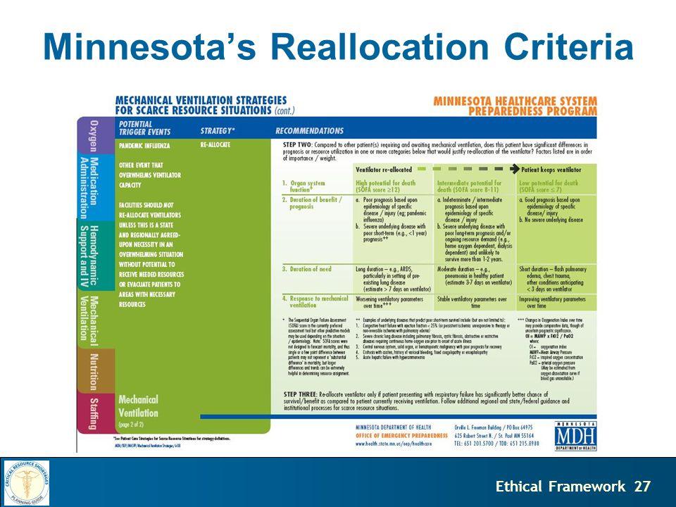 27Ethical Framework Minnesota's Reallocation Criteria
