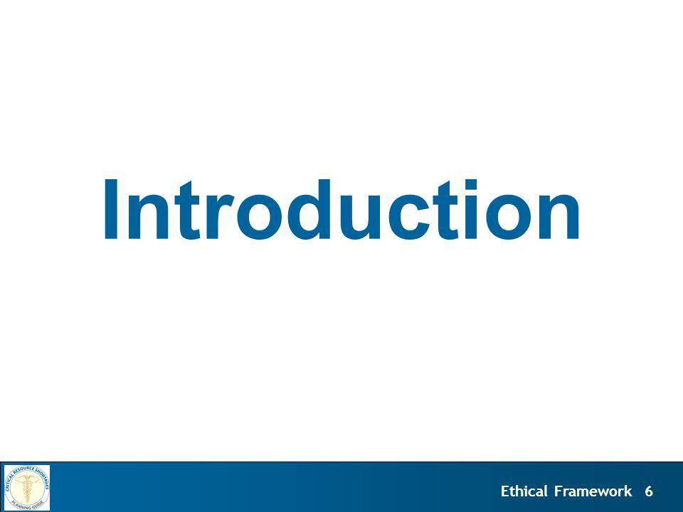 6Ethical Framework Introduction