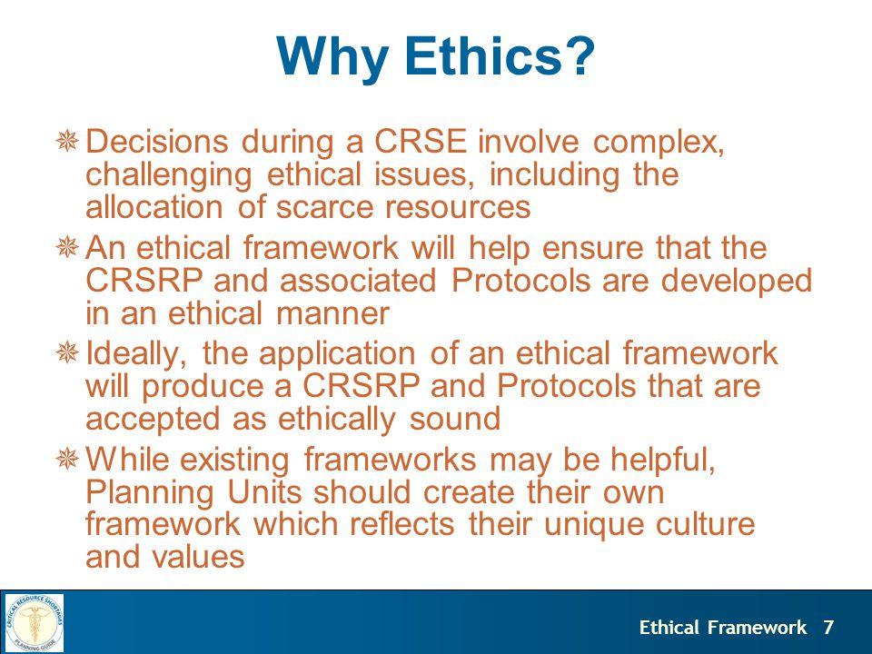 7Ethical Framework Why Ethics.