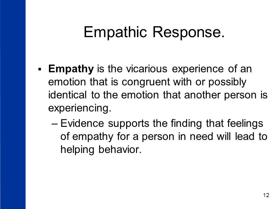 12 Empathic Response.