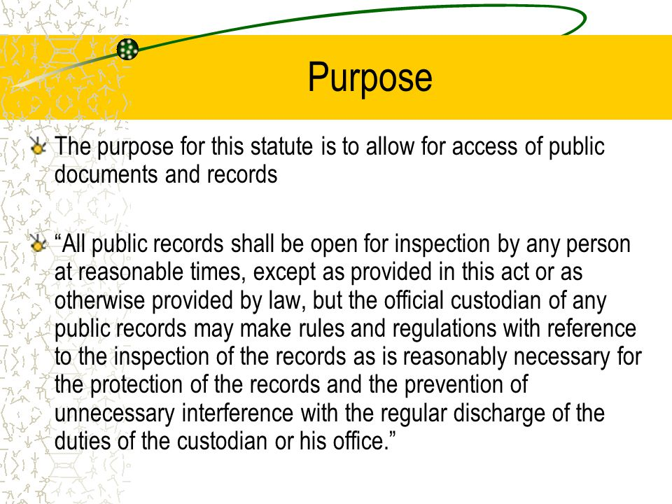 What are considered Public Records.