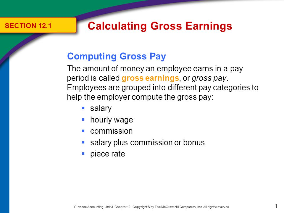 12 Glencoe Accounting Unit 3 Chapter 12 Copyright © by The McGraw-Hill Companies, Inc.