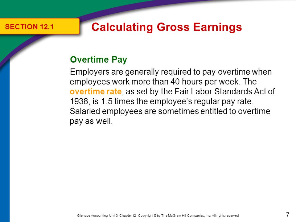 8 Glencoe Accounting Unit 3 Chapter 12 Copyright © by The McGraw-Hill Companies, Inc.