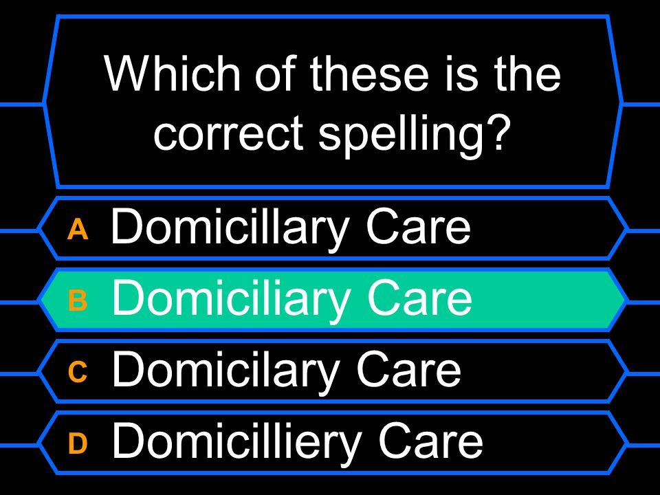 Which of these is the correct spelling.