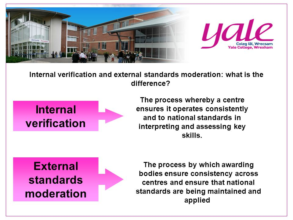 Internal verification and external standards moderation: what is the difference.