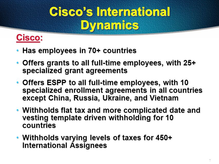 8 International Challenges Belgium:Belgium: -65%, or 2 out of 3 employees in Belgium declined their Ongoing Grant in 2000 -60-day acceptance window poses automation challenges -Dexia loan facility China:China: -Bonus Rights type program -Like to begin offer ESPP Bonus program France:France: -Tracking nightmare -New tracking and broker facility Israel:Israel: -Special broker facilities in place now -What we hope to accomplish in the future