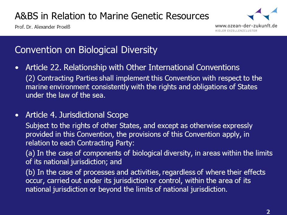 2 A&BS in Relation to Marine Genetic Resources Prof.