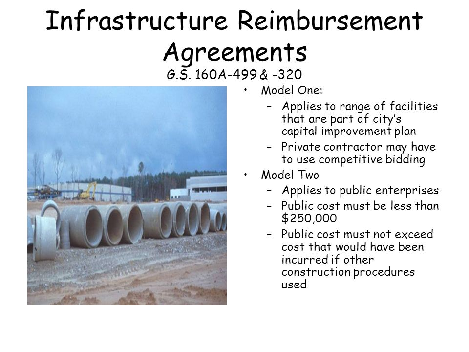 Infrastructure Reimbursement Agreements G.S.