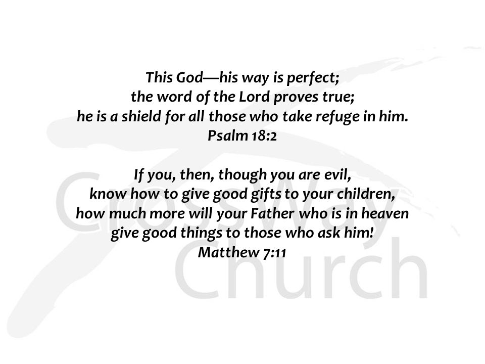This God—his way is perfect; the word of the Lord proves true; he is a shield for all those who take refuge in him.