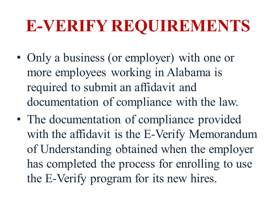 E-VERIFY REQUIREMENTS E-Verify affidavit requirements apply to contracts or grants awarded by the school board after January 1, 2012.