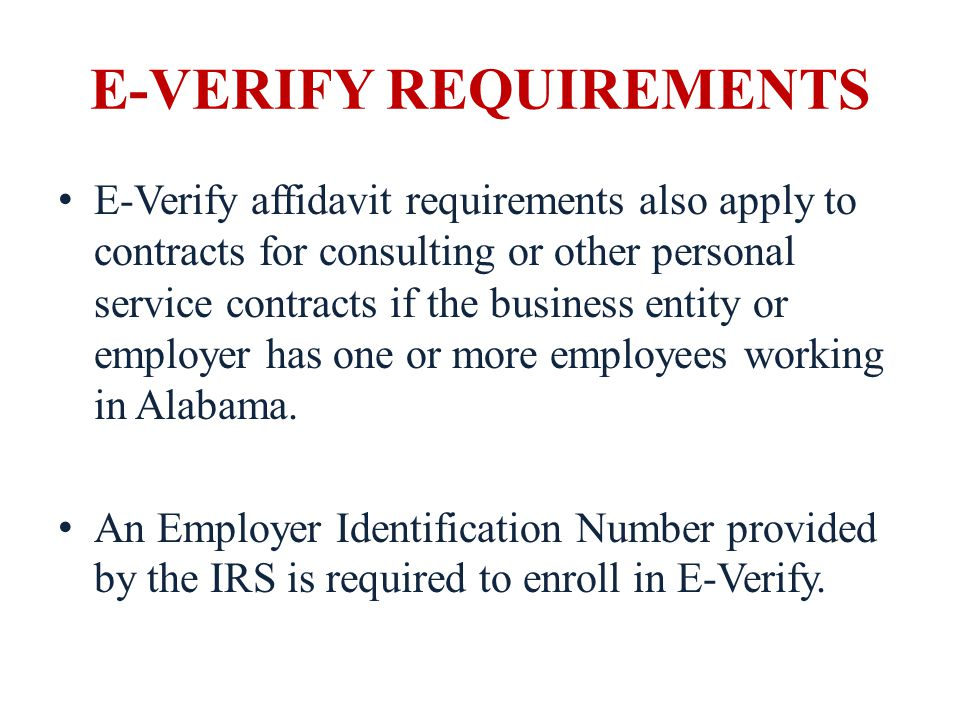 Subcontractors A business that has a contract with the school board or other public entity is required to obtain a different affidavit form on subcontractors that it hires.