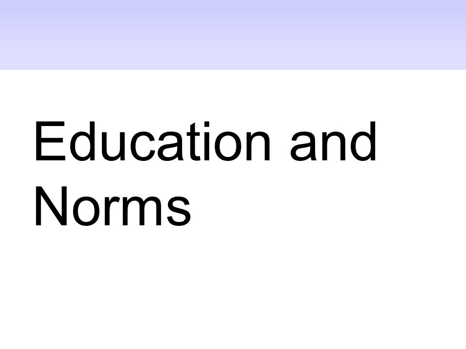 Education and Norms