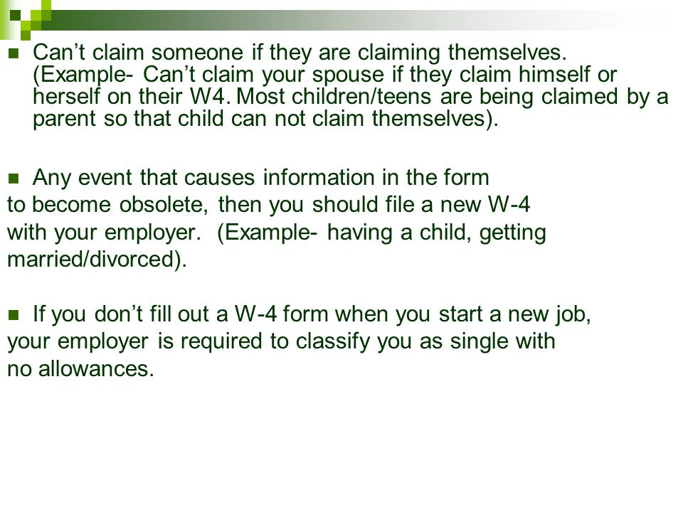 *If you falsely claim too many deductions in order to lower your taxes, you could be subject to a $500 fine.