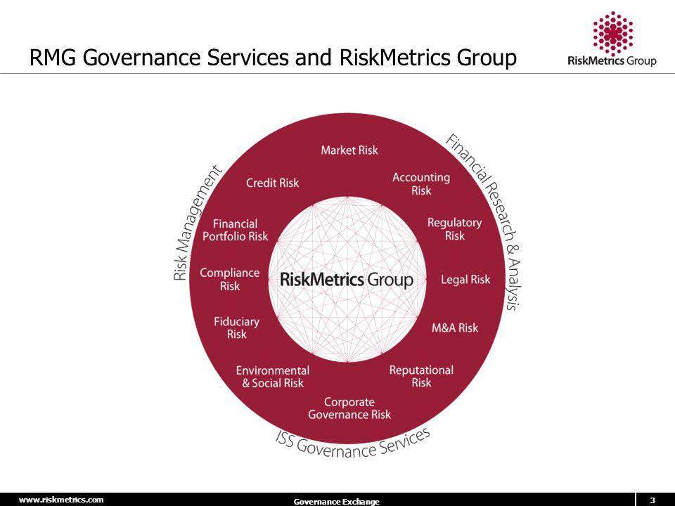 www.riskmetrics.com 3 Governance Exchange RMG Governance Services and RiskMetrics Group