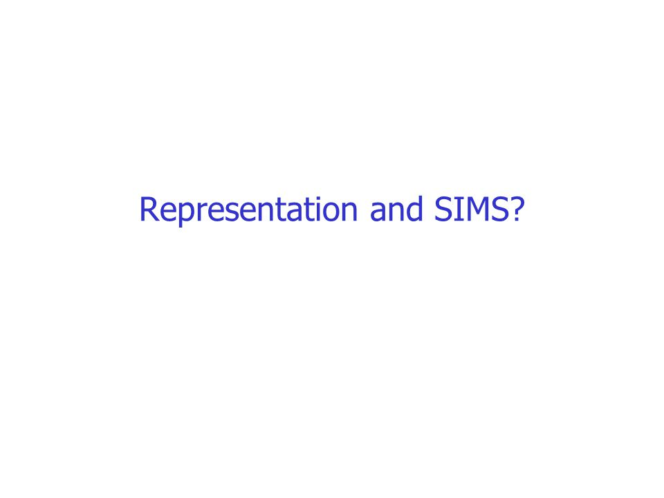 Representation and SIMS?