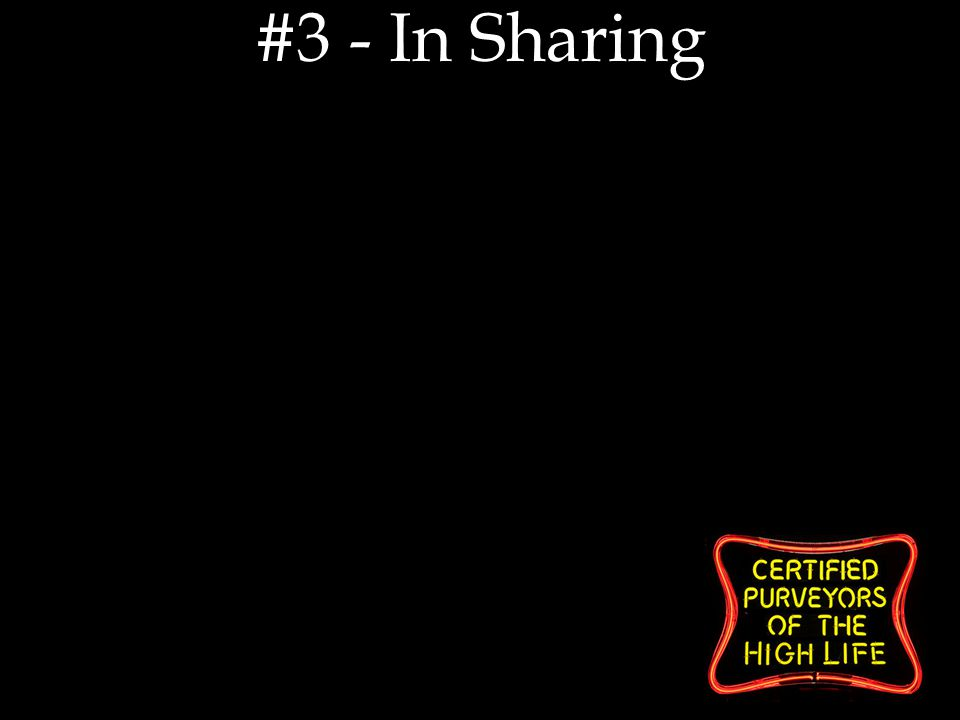 #3 - In Sharing