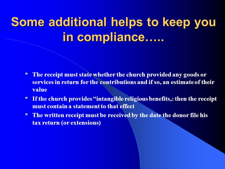 Some additional helps to keep you in compliance…..