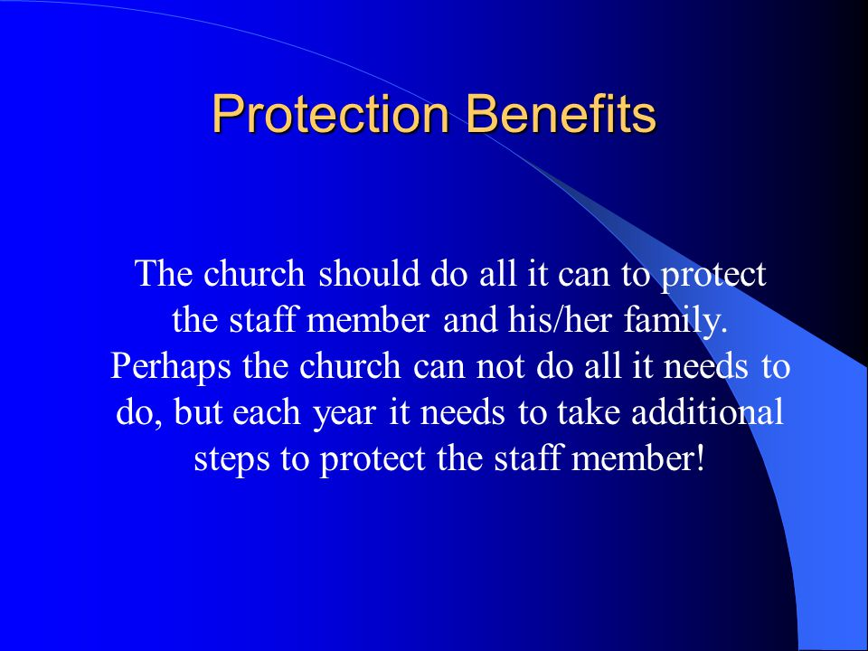 Thus far, we have just reviewed what it cost the church staff member TO BE YOUR CHURCH STAFF MEMBER.