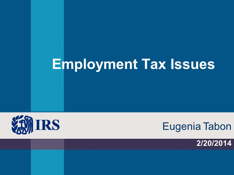 Employment Tax Issues 2/20/2014 Eugenia Tabon