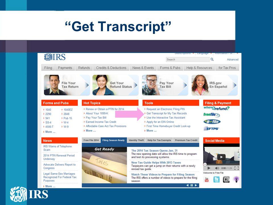 """""""Get Transcript"""""""