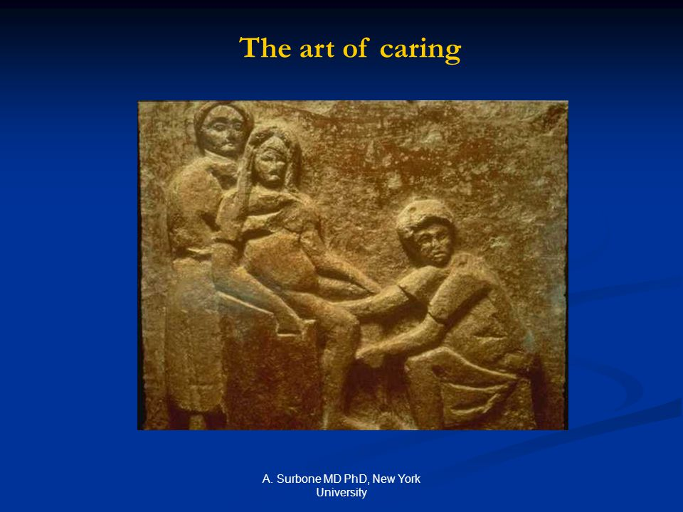 A. Surbone MD PhD, New York University The art of caring