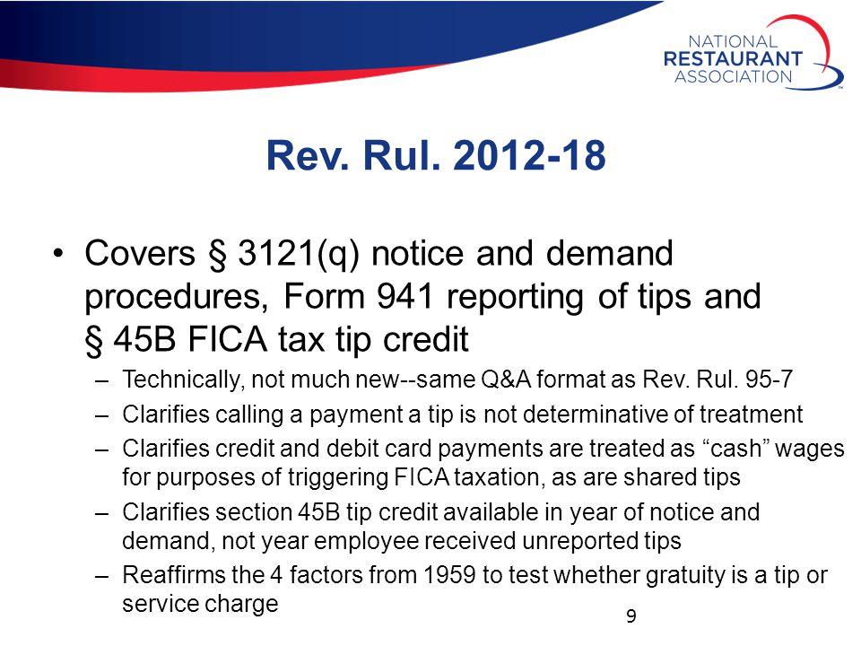 Rev.Rul. 2012-18 Repeats previous guidance of Rev.