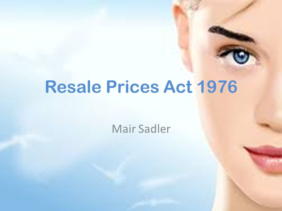 The Act The Resale Prices Act 1964 c.